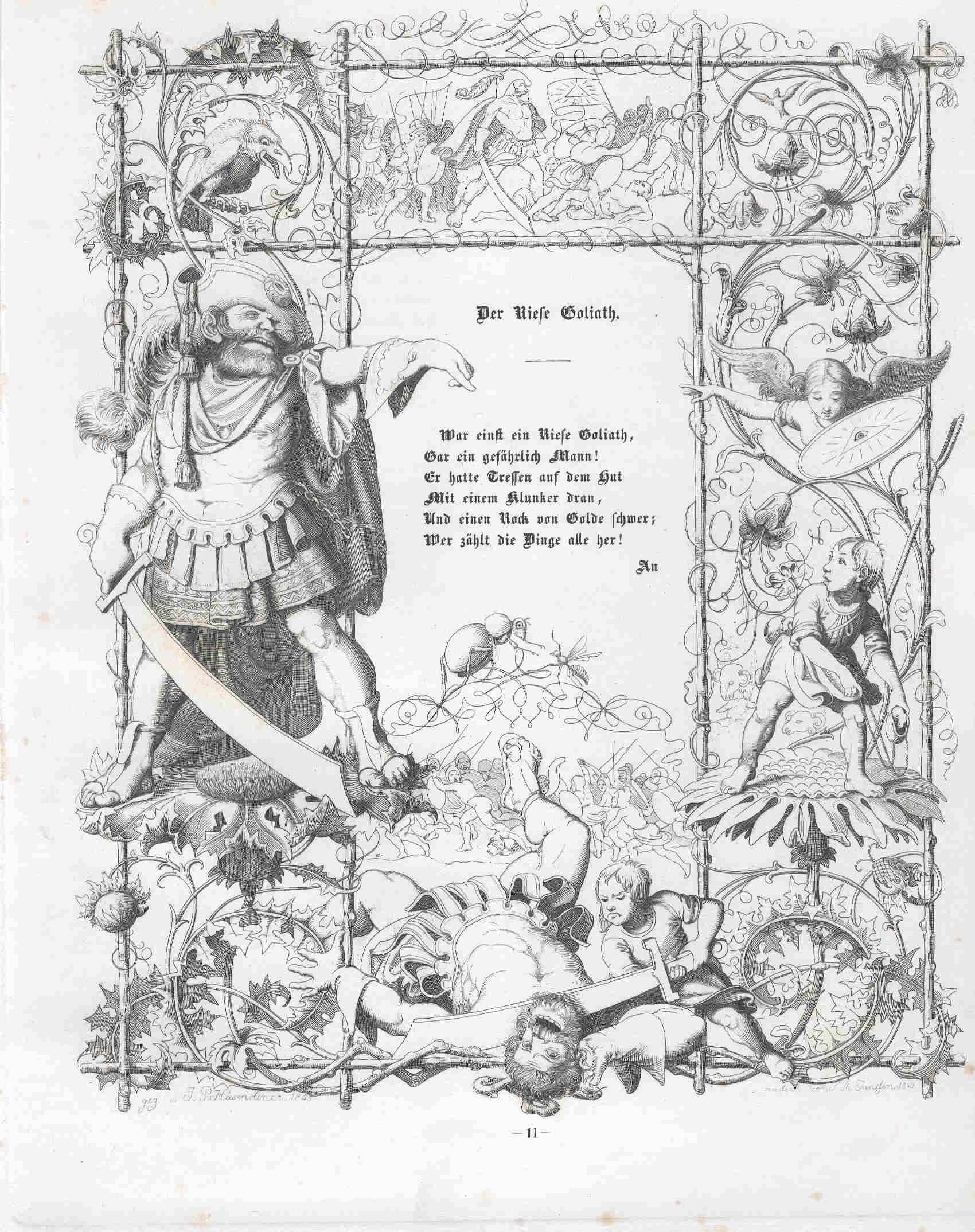 Der Riese Goliath - nach Johann Peter Hasenclever! Hier klicken für vergrößerte Ansicht!