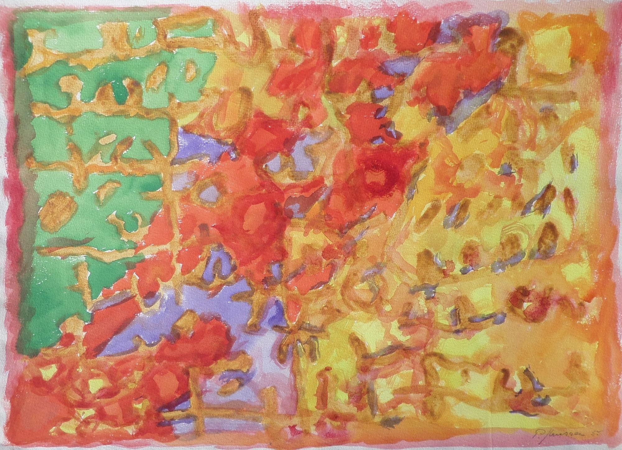 Farbenspiell, Aquarell von Peter Janssen, für vergrößerte Ansicht bitte anklicken!