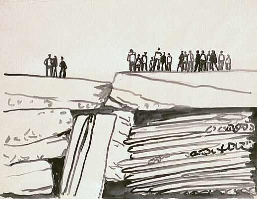 Menschen auf Felsen