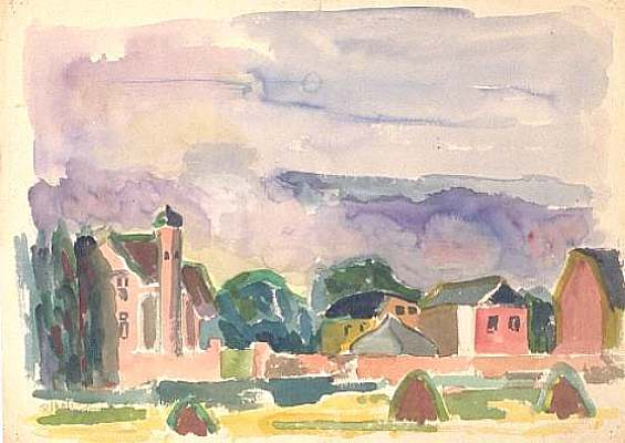 Xanten, water colour by Peter Janssen.