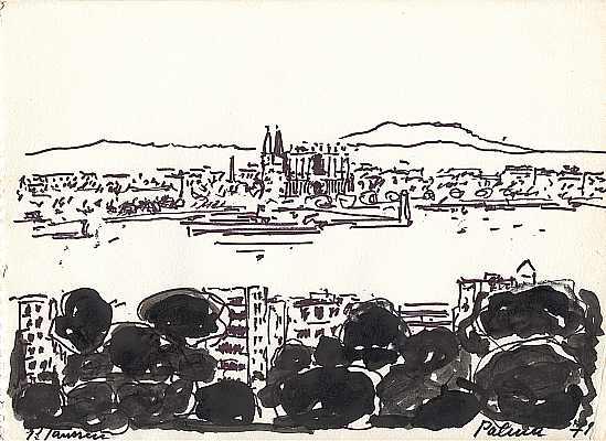 Palma 1971, Zeichnung von Peter Janssen