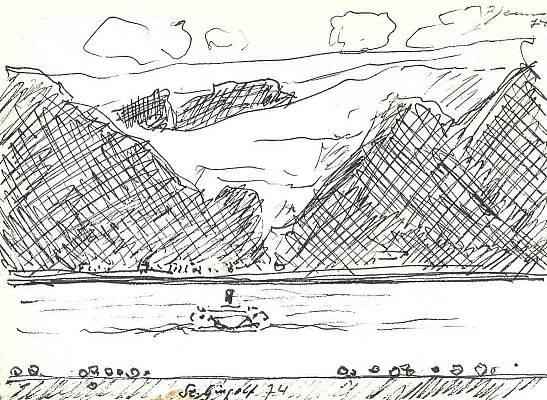 St. Gingolf 1974, Zeichnung von Peter Janssen