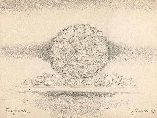 Tiergarten 1966, Zeichnung von Peter Janssen