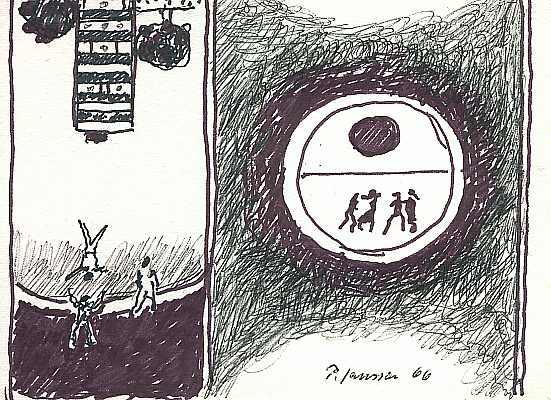 Verkehrt 1966, Zeichnung von Peter Janssen