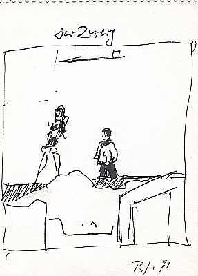 Der Zwerg 1971, Zeichnung von Peter Janssen