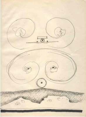 Anflug, Zeichnung von Peter Janssen