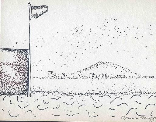 Benicarlo 1967, Zeichnung von Peter Janssen
