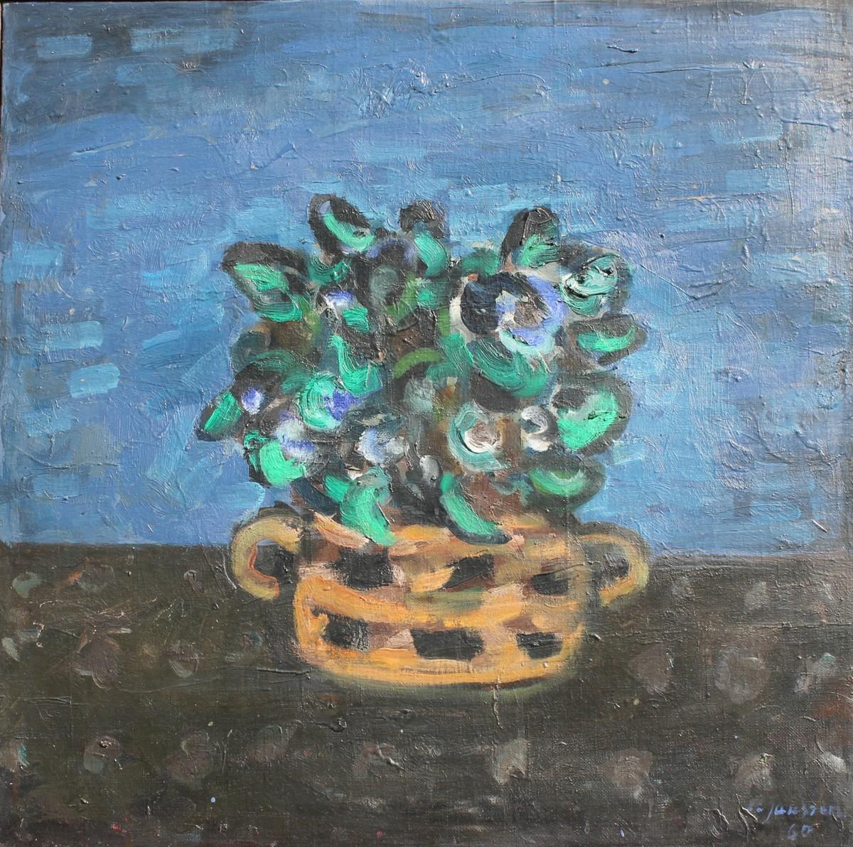 Blaues Blumenbild, für vergrößerte Ansicht bitte anklicken!