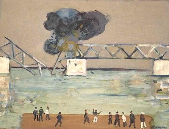 Brückensprengung 1949