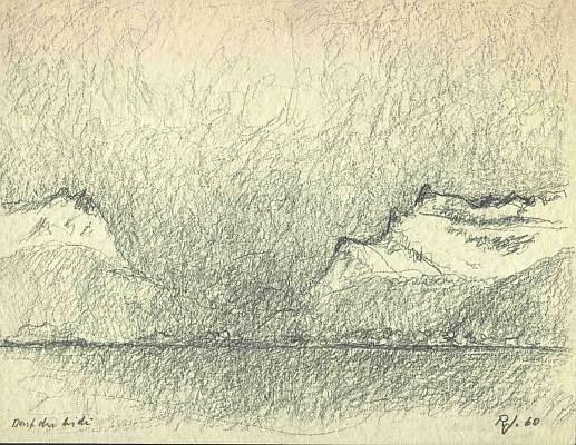 ...du Midi, 1960, Zeichnung von Peter Janssen