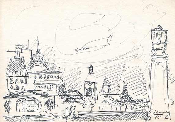 Evian, Zeichnung von Peter Janssen