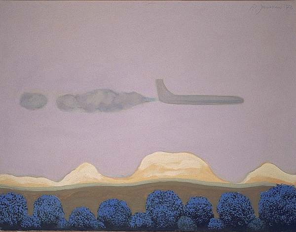 Airplane, painting by Peter Janssen