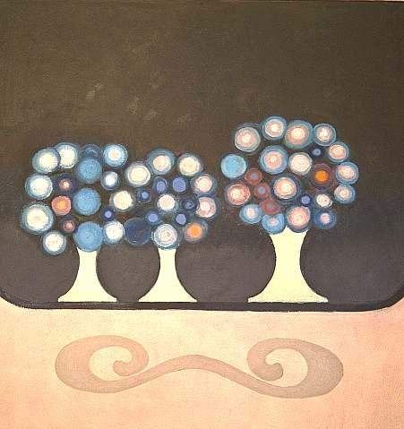 Großes Stilleben mit drei Vasen