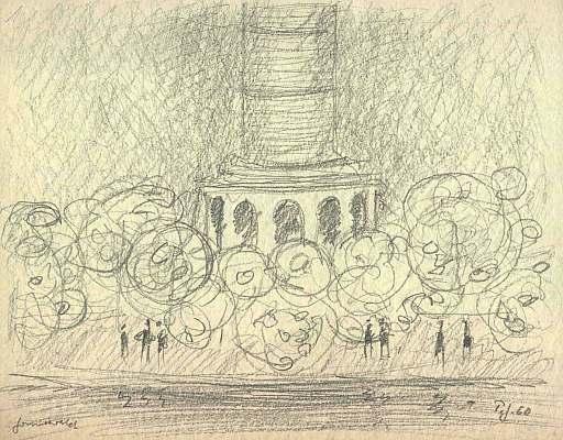 Grunewald, Zeichnung von Peter Janssen
