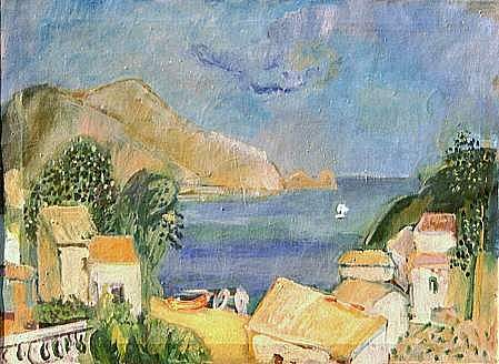 Ischia, painting by Peter Janssen, please click for enlarged view.