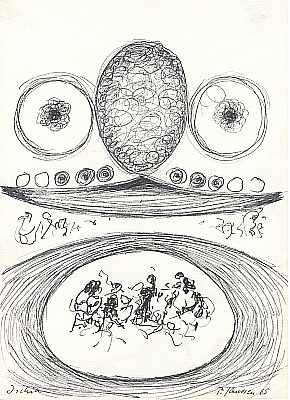 Ischia 1965, Zeichnung von Peter Janssen