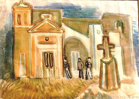 Kleien Kirche auf Ischia