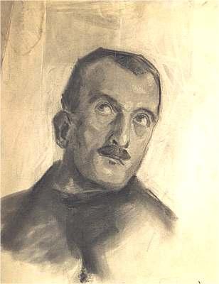 Portrait eines Mannes, Zeichnung von Peter Janssen