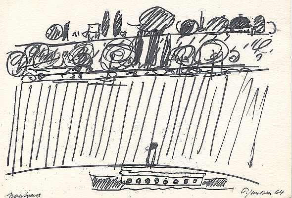 Montreux 1964, Zeichnung von Peter Janssen