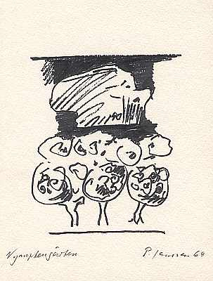 Nymphengärten, Zeichnung von Peter Janssen