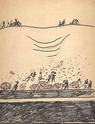 Tanz im Tal, Zeichnung von Peter Janssen