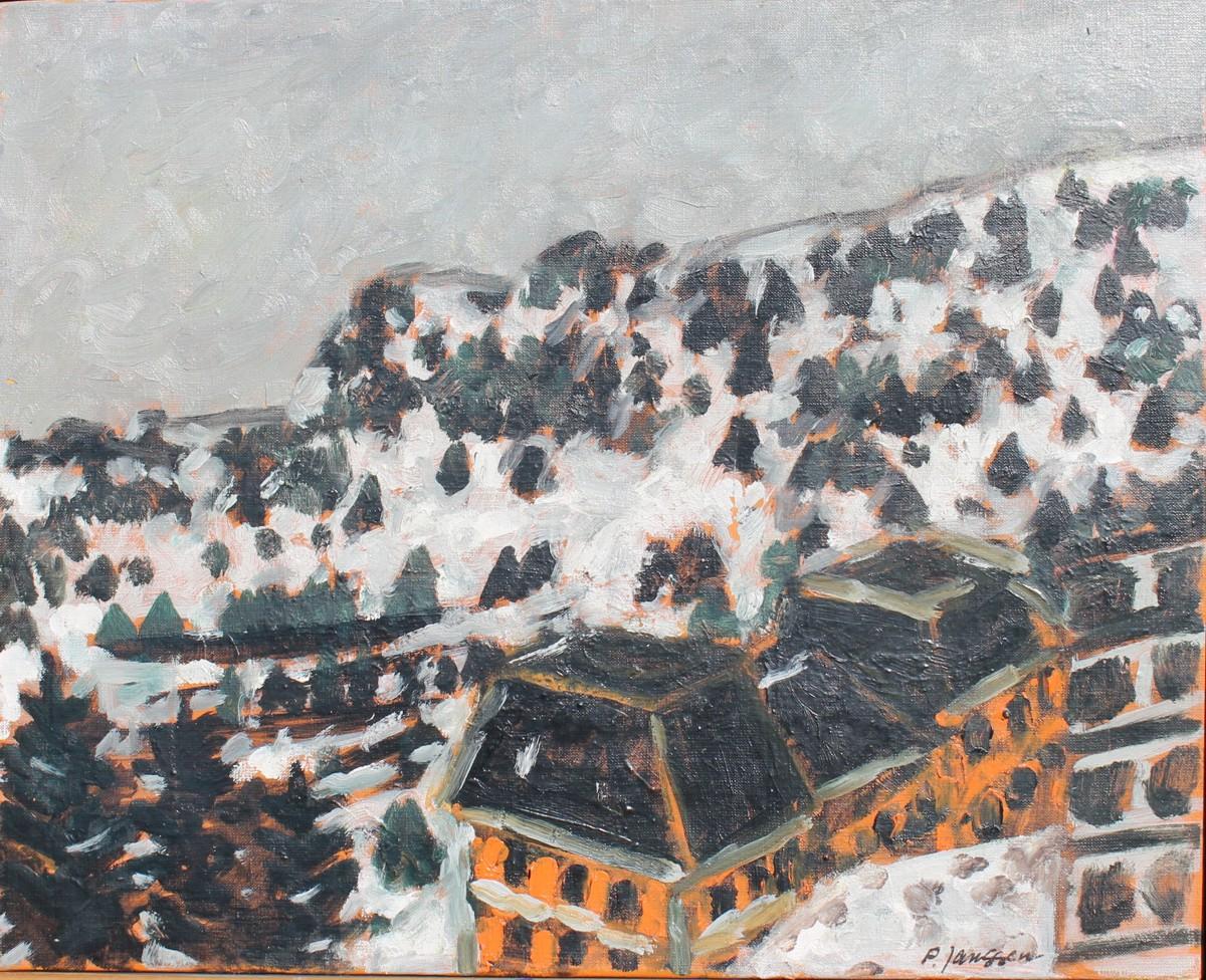 Villas, 1962, Gemälde von Peter Janssen. Anklicken für größere Ansicht / click to enlarge