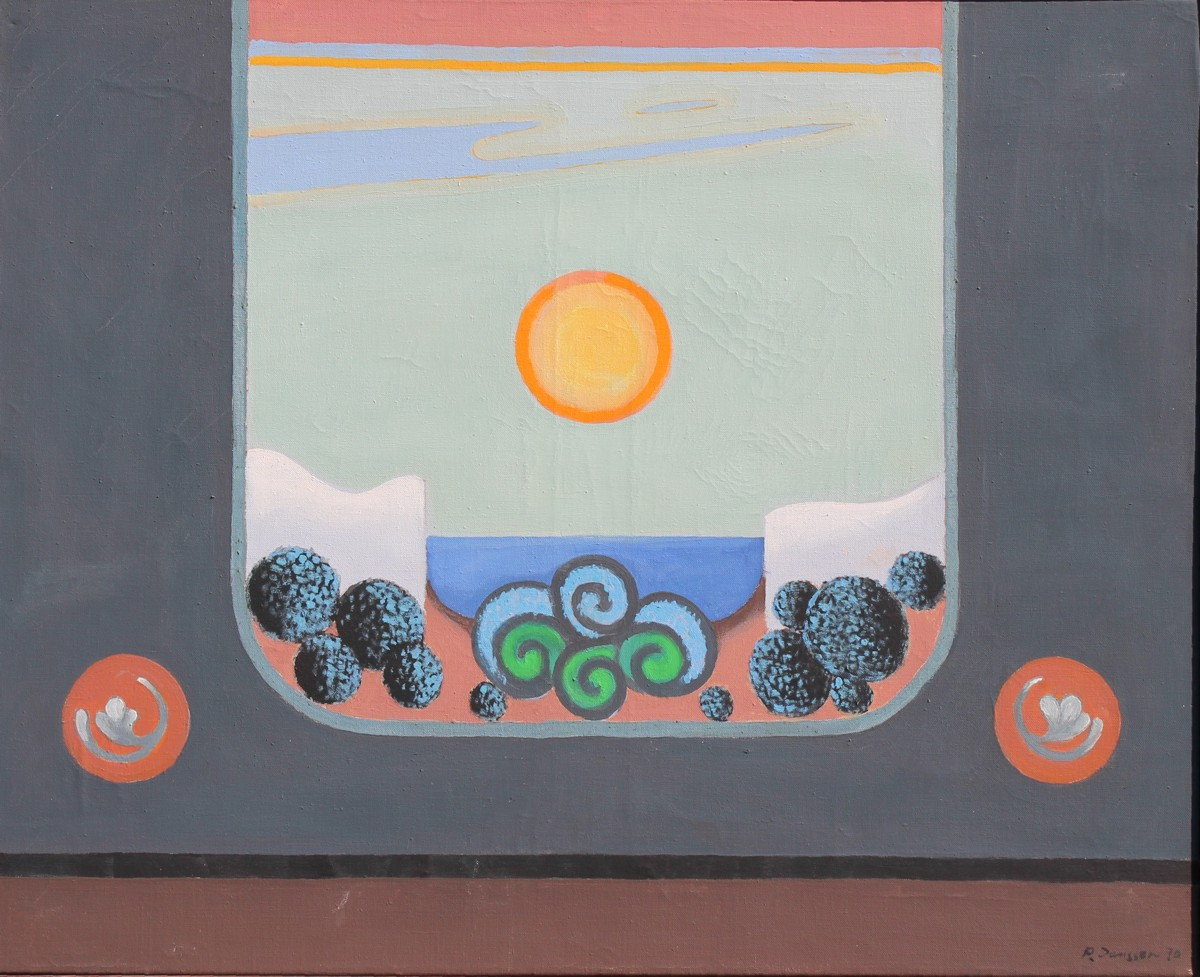 Coat of arms of a happy landscape, 1970, painting by Peter Janssen, please click for enlarged view!