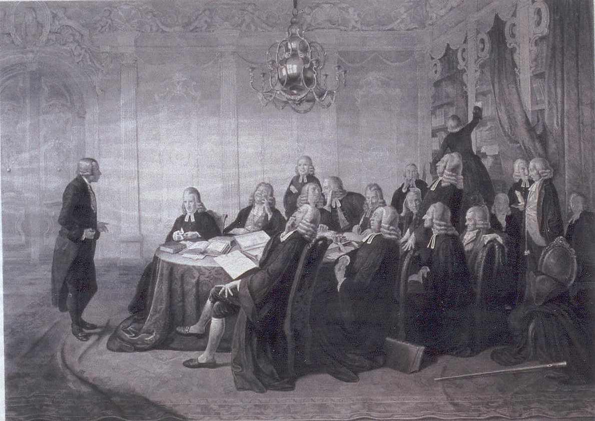 Der Candidat Jobs im Examen 1844 - nach Johann Peter Hasenclever! Hier klicken für vergrößerte Ansicht!