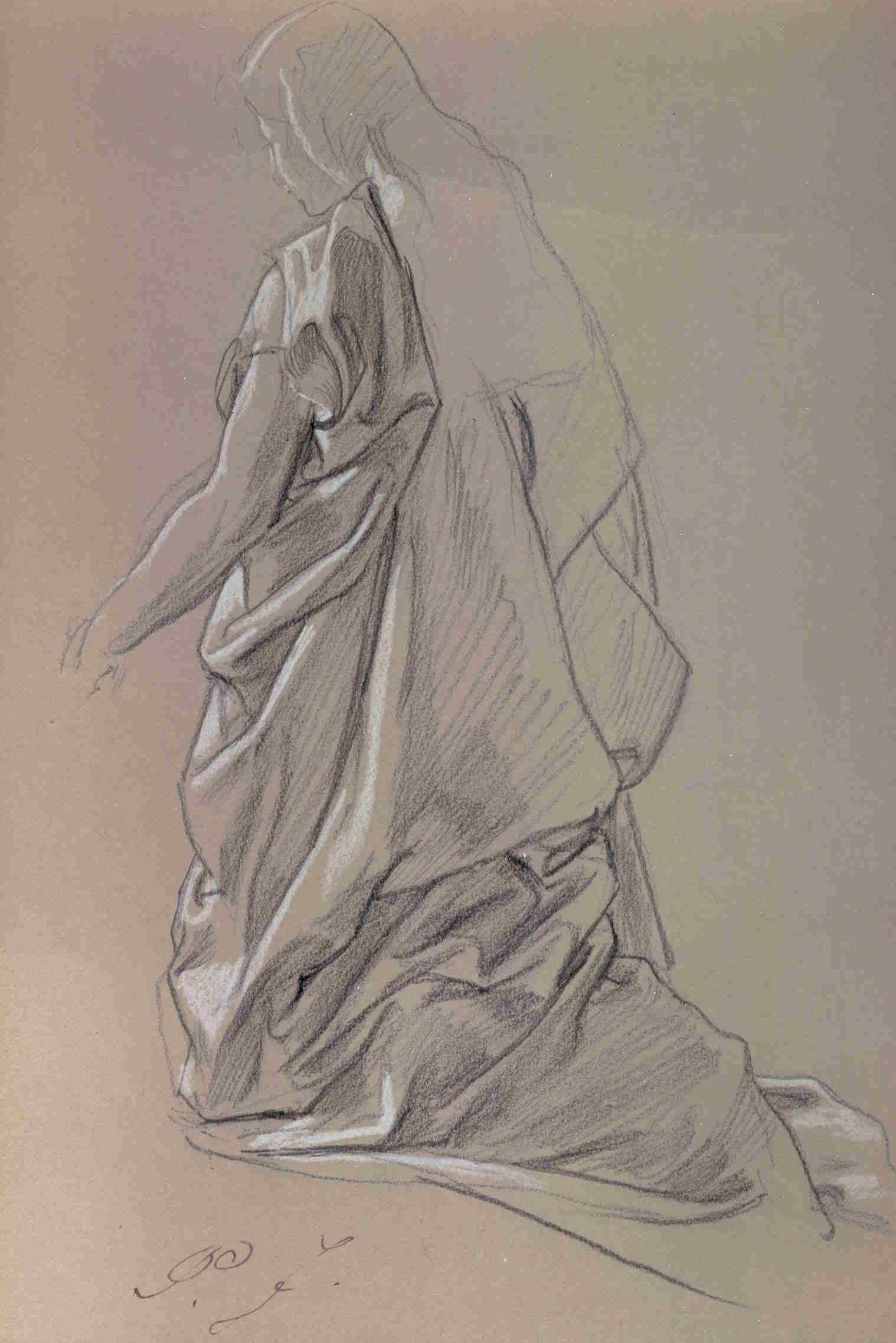 Frauenstudie von Peter Janssen d.Ä. hier klicken für vergrößerte Ansicht!