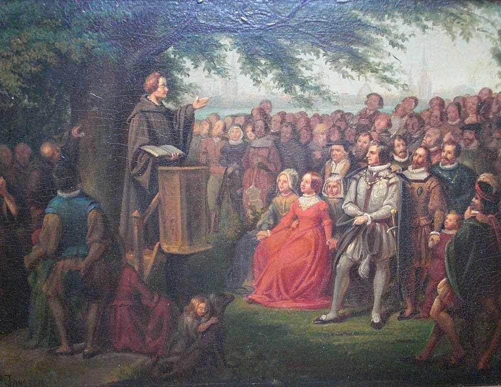 Die Predigt im Freien von Peter Janssen d.Ä. hier klicken für vergrößerte Ansicht!