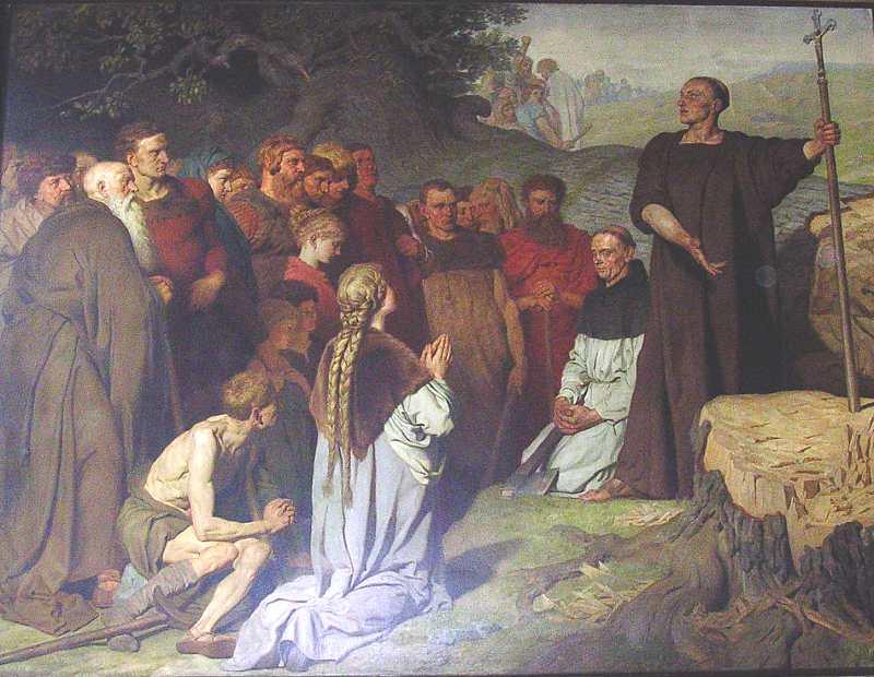 Die Predigt des heiligen Bonifazius - klicken für vergrößerte Ansicht!