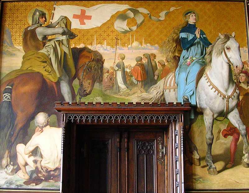 Der heilige Martin, der Kinderkreuzzug und die heilige Elisabeth - klicken für vergrößerte Ansicht!