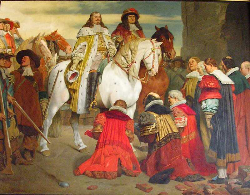 Einzug des Kurfürsten Johann Philipp von Schönborn in Erfurt, 1664 - klicken für vergrößerte Ansicht!