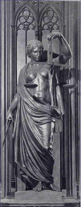 Justitia - Bronzeskulptur!