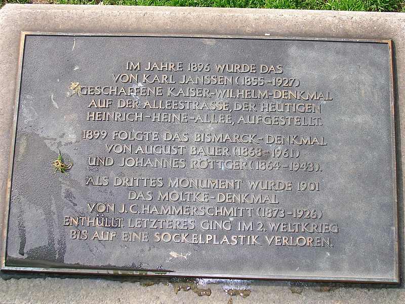 Kaiser Wilhelm I. Denkmal auf dem Martin Luther Platz in Düsseldorf!
