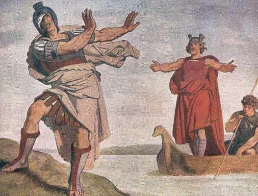 Flavus verweigert Arminius die Gefolgschaft