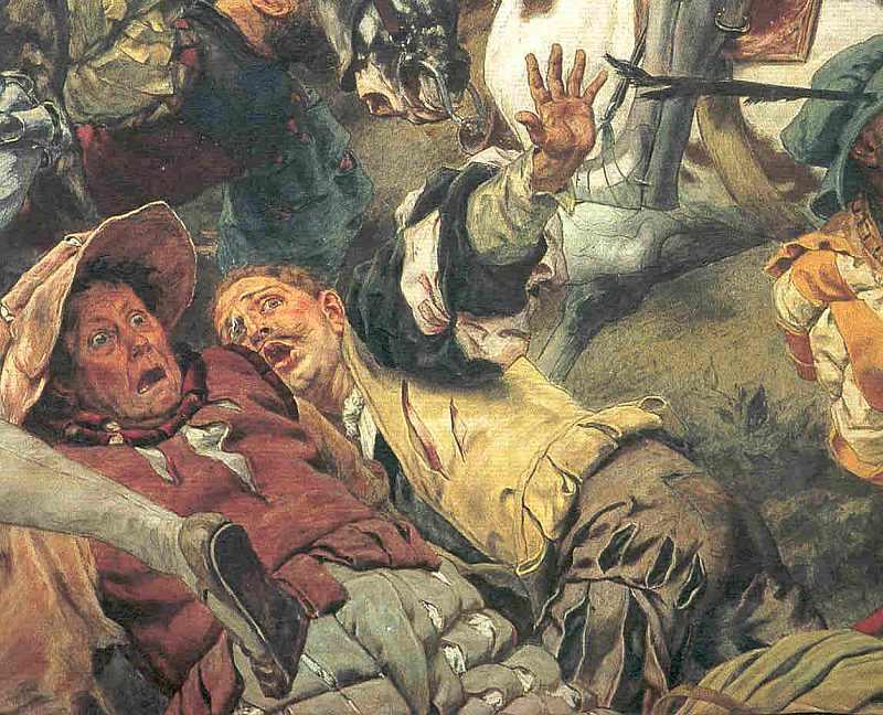Die Schlacht bei Laufen. 1534 - Detailansicht