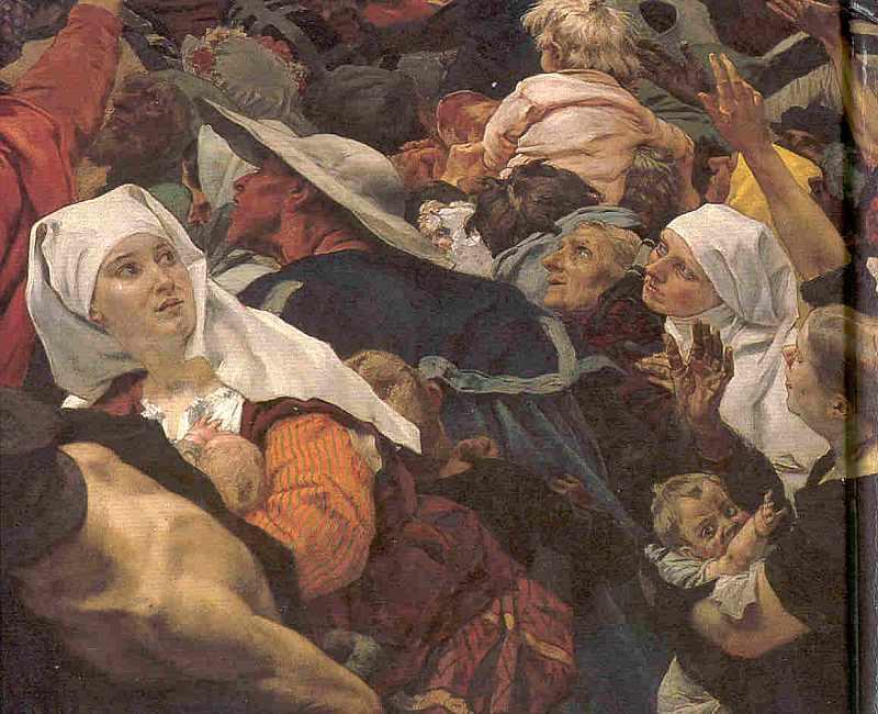 Sophie von Brabant läßt die Marburger Heinrich dem Kinde huldigen. 1248