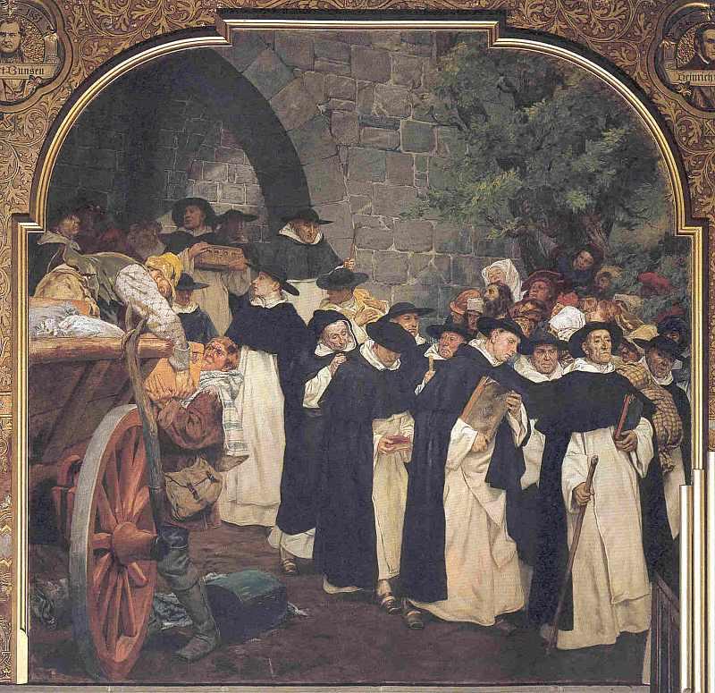 Dominikaner überlassen ihr Kloster der Universität. 1527, hier klicken für vergrößerte Ansicht!