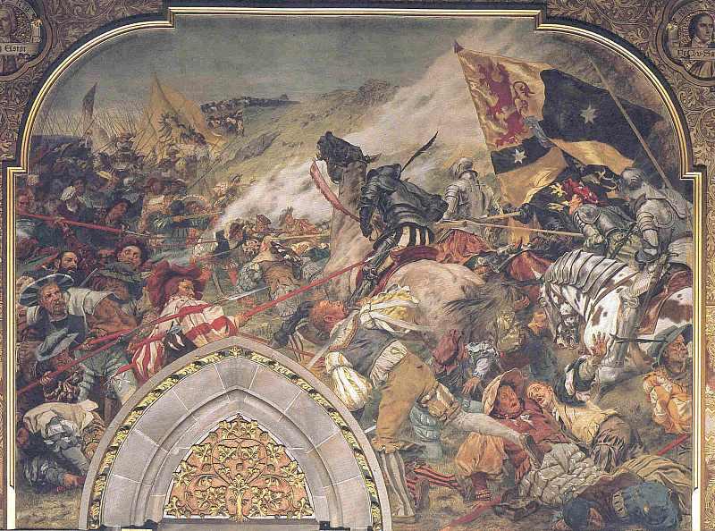 Die Schlacht bei Laufen. 1534, hier klicken für vergrößerte Ansicht!