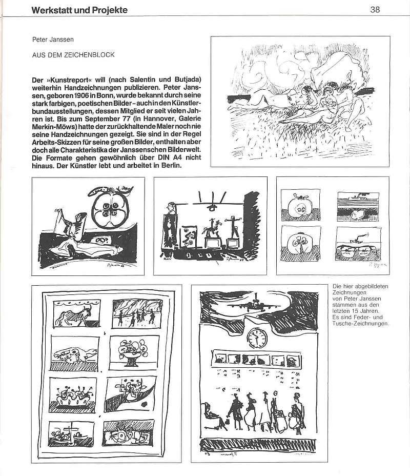 Peter Janssen Kunstreport 3/4 77