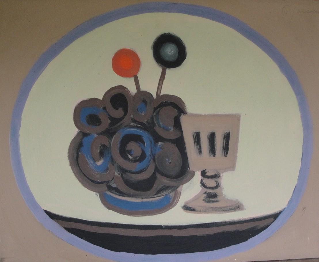 Stilleben, 1965, Gemäldevon Peter Janssen. Anklicken für größere Ansicht / click to enlarge