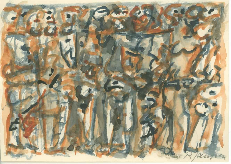 ohne Namen, Aquarell von Peter Janssen, no name. water colour by Peter Janssen. Anklicken für größere Ansicht / click to enlarge
